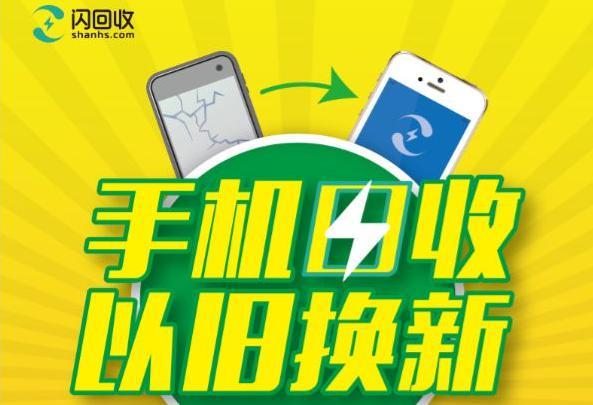 闪回收官网展示的苹果手机回收活动图片