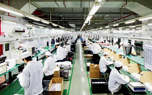 二手机回收加工产业链实景